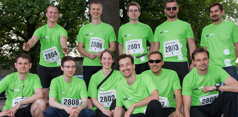 Das clickstorm-Team vor dem Lauf