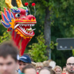 Firmenlauf 2014, Maske beim Start