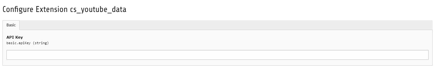 Backend TYPO3, API key