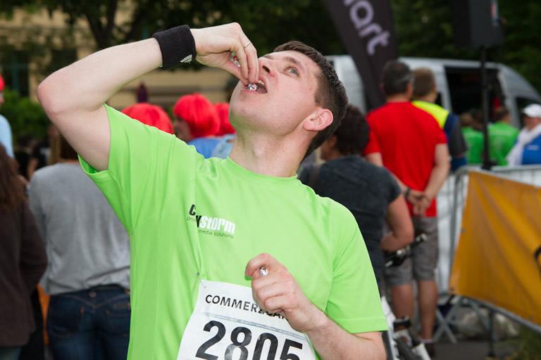 Firmenlauf 2014, clickstorm beim Doping
