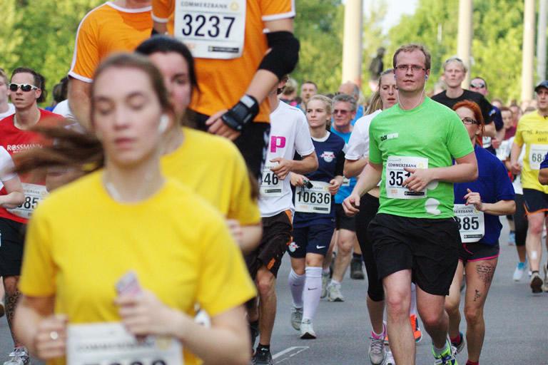 Firmenlauf 2015, clickstorm beim Lauf 2