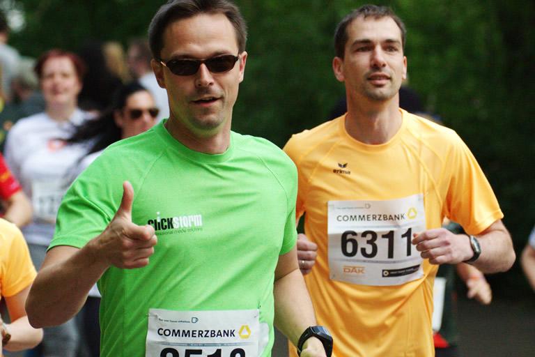 Firmenlauf 2015, clickstorm beim Lauf 1