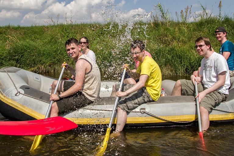 Firmenausflug 2014, Paddeln - auf dem Wasser /2/