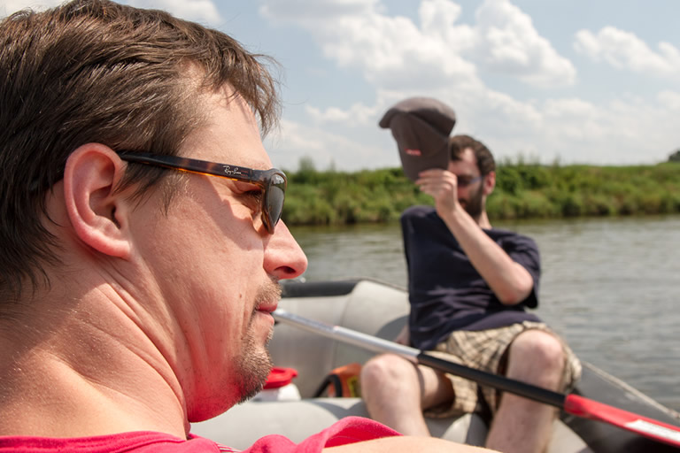 Firmenausflug 2014, Paddeln - auf dem Wasser /3/