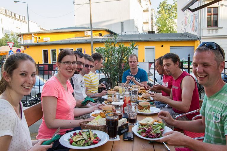 Firmenausflug 2014, Paddeln - Abendessen