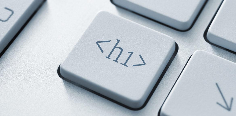 SEO Überschriften, Tastatur mit h1-Taste