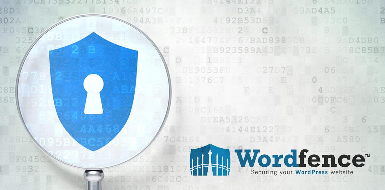 Mehr Sicherheit mit Wordfence, Lupe mit Logo
