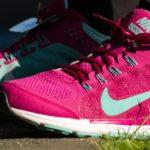 Leipziger Firmenlauf 2016, pinke Schuhe