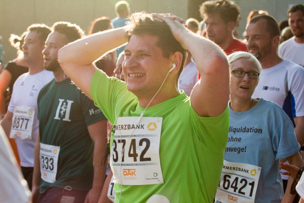Leipziger Firmenlauf 2016, Kiri im Ziel