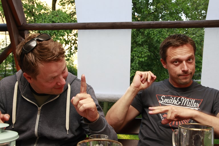 Greifendorf - Schmiedelandhaus, Firmenausflug Ronny und Martin