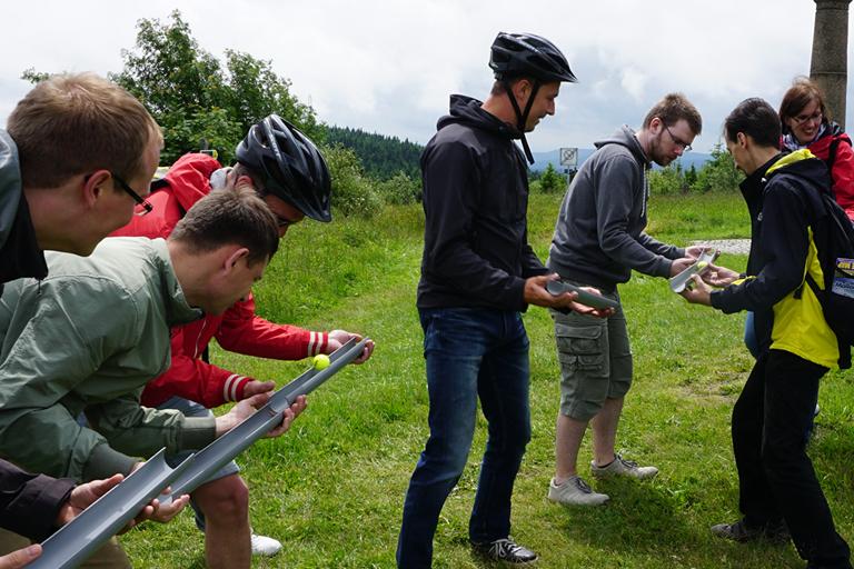 Firmenausflug Oberwiesenthal - Monsterroller, Teamspiel auf dem Fichtelberg