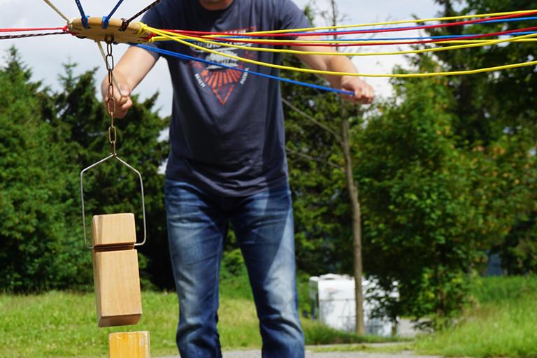 Firmenausflug Oberwiesenthal - Monsterroller, Teamspiel