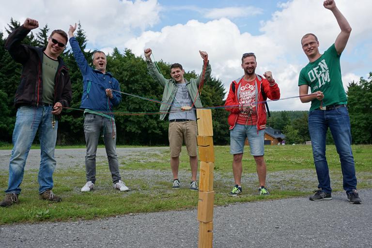 Firmenausflug Oberwiesenthal - Monsterroller, Teamspiel die Gewinner