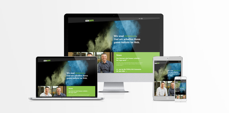 Responsive Webdesign von clickstorm
