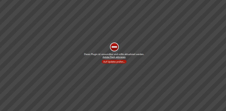 Chrome blockiert Flash, Fehlermeldung im Browser