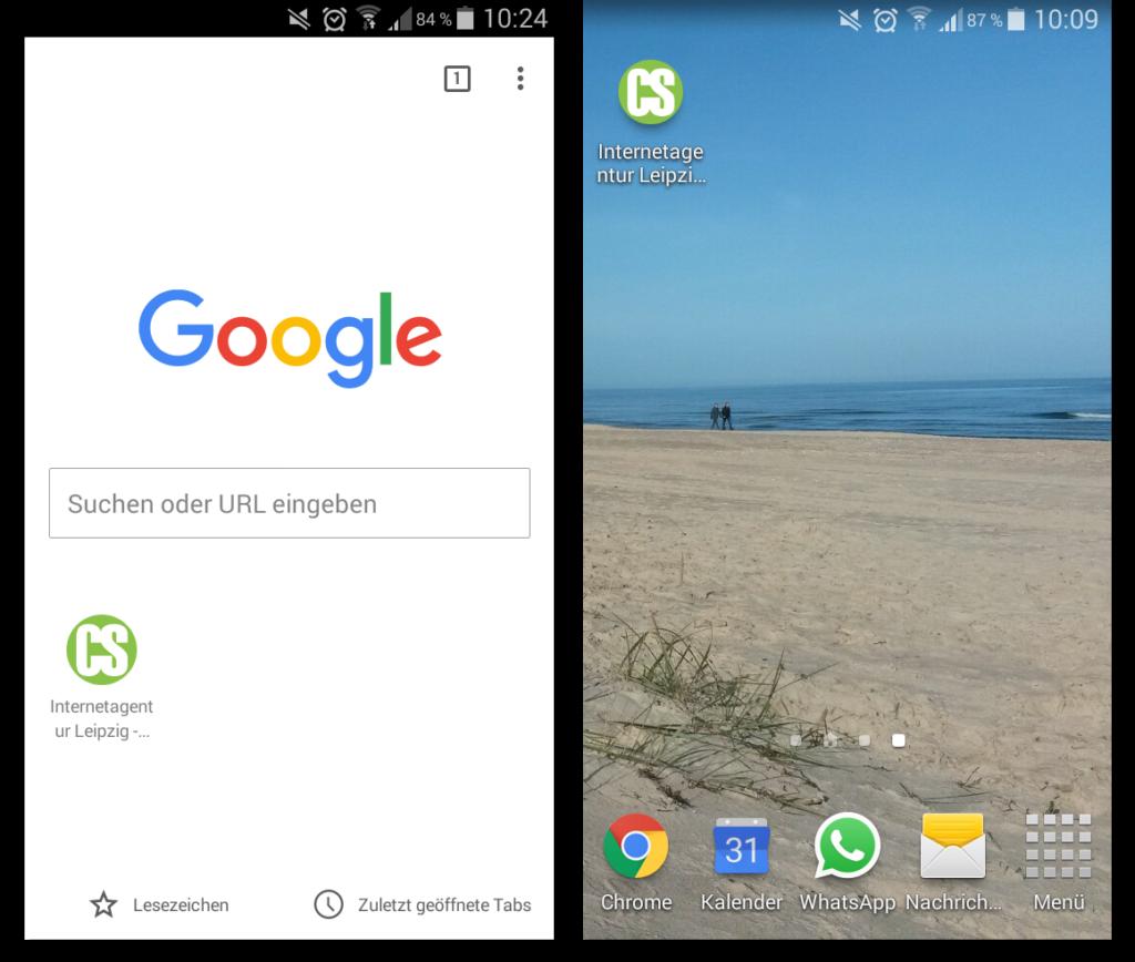 Touch Icon Beispiel anhand clickstorm