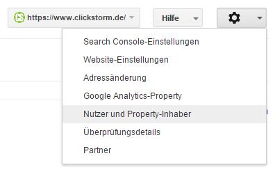 Nutzer- und Property-Inhaber
