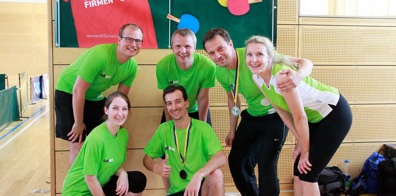 clickstorm beim 7. Leipzig Tischtennis Firmen-Cup 2017