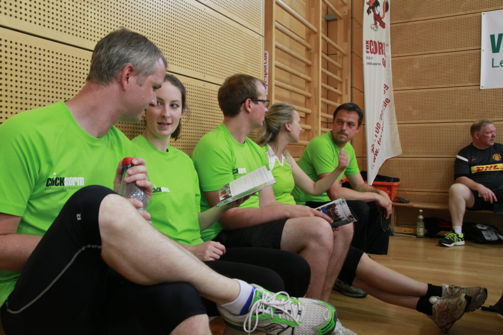 Pause beim Leipzig Tischtennis Firmen-Cup 2017