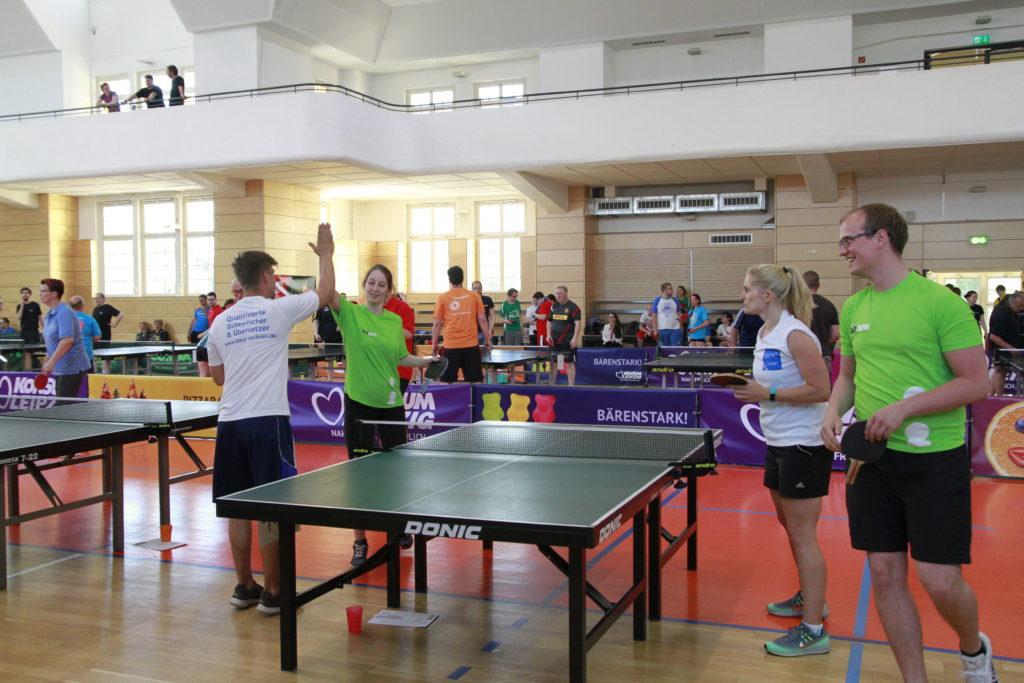 Spiel Tischtennis Firmen-Cup 2017