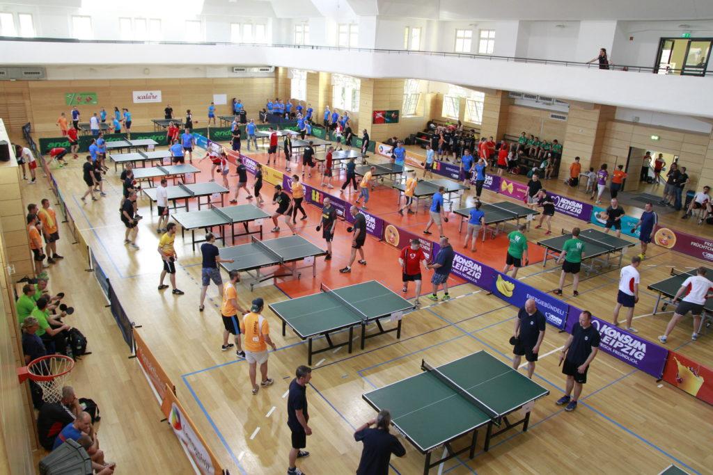 Turnhalle Tischtennis Firmen-Cup 2017 Leipzig