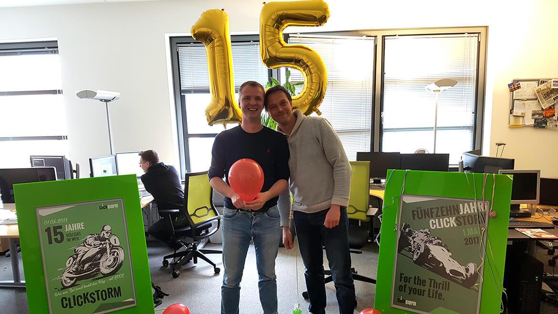 Wir feiern 15 Jahre clickstorm