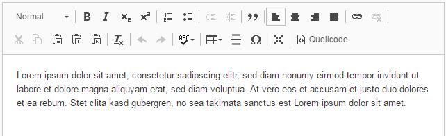 "CKEditor Konfiguration ""Default"""