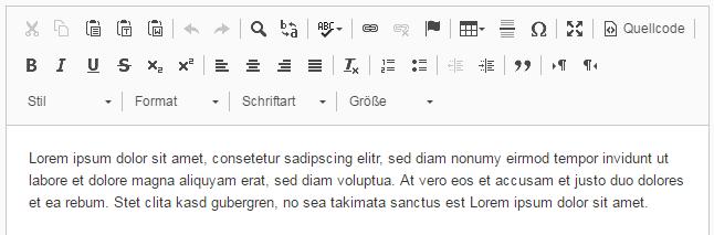 "CKEditor Konfiguration ""Full"""