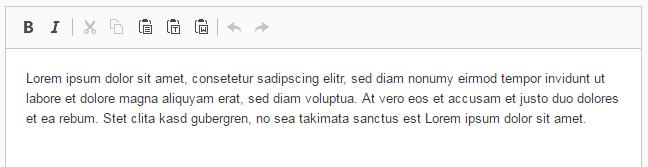 "CKEditor Konfiguration ""Minimal"""