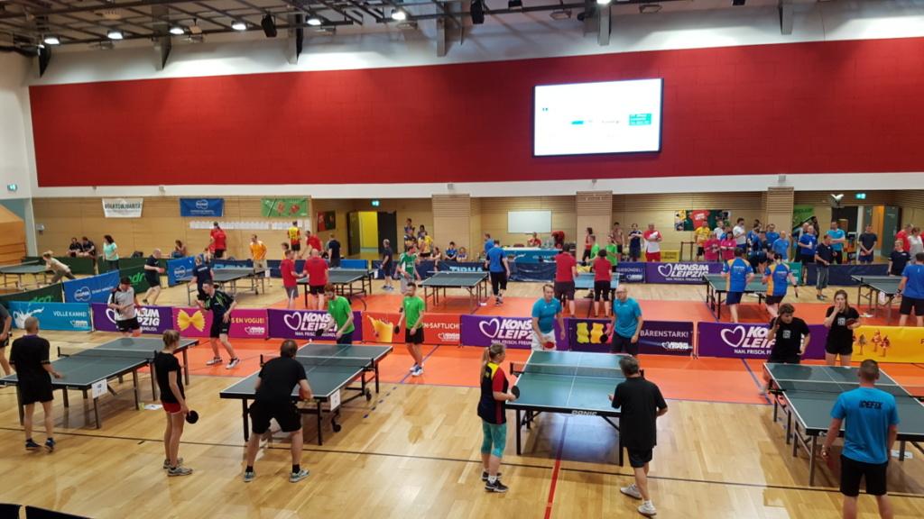 Tischtennis Firmencup Leipzig 2018 Halle