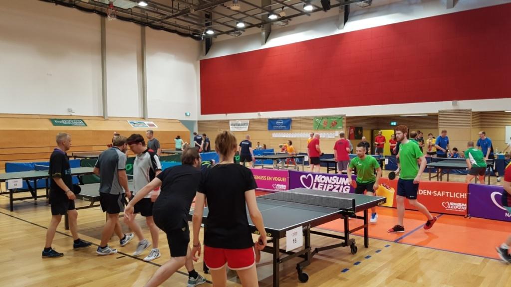 Tischtennis Firmen Cup Match 1