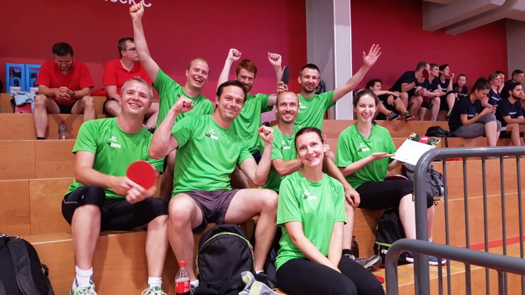 clickstorm Team beim Tischtennis Firmen Cup Leipzig 2018