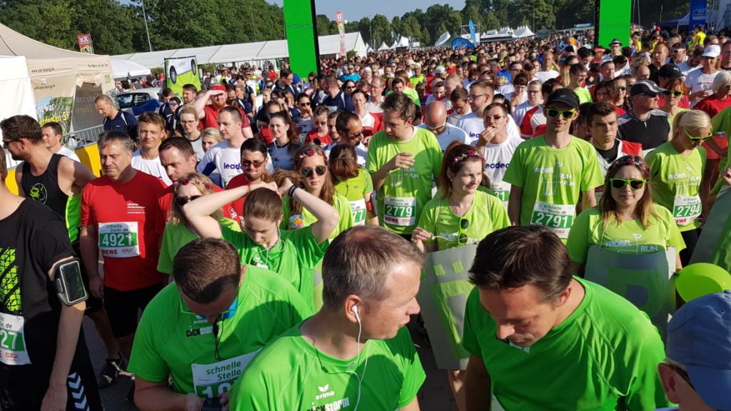 clickstorm am Start beim Firmenlauf Leipzig 2018