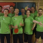 clickstorm Gruppenfoto beim Tischtennis Firmen Cup Leipzig 2018