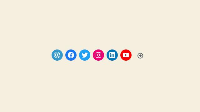 WordPress Social Block